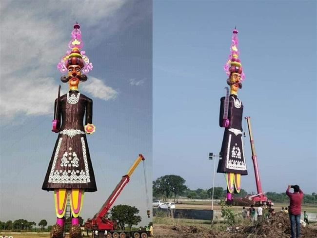 India's tallest Ravana effigy in Chandigarh goes in flames