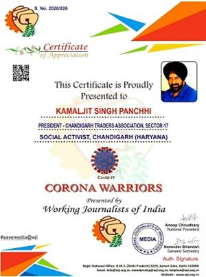 Working Journalists of India honors Kamaljit Singh Panchhi