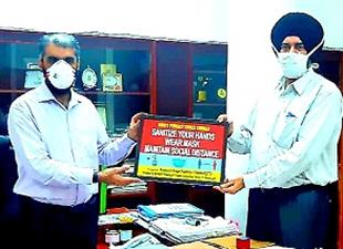DC Mandip Singh Brar releases Awareness poster of safety measures fighting against Covid -19